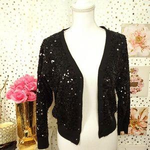 Fabulous furs straight jacket size L sequins